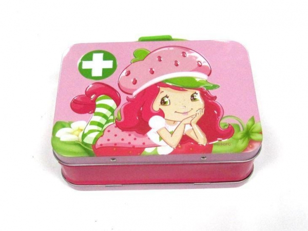 Quality Tin Lunch Box Small Rectangular Customize Brand Name Lunch Tin Box with Handle and Lock for sale