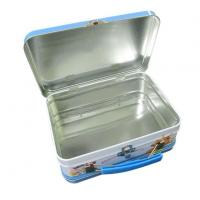 Wholesale Tin Lunch Box USA Long Rectangular Lunch Tin Box for Sales with Handle and Lock from china suppliers