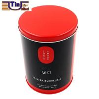 Wholesale PMS Large and PMS Red Middle Round Tea Storage Arch Lid Tin Canister from china suppliers