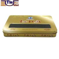 Wholesale Middle Rectangular Canned Food Candy Mint Storage Tin Box with a PET Window on Lid from china suppliers