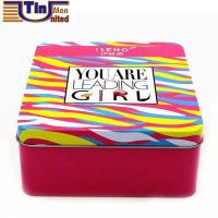 Wholesale Rectangular Candy Mint Canned Food Tin Box with a PET Irregular Window from china suppliers