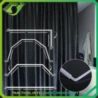 Wholesale ZC005 new design white pvc curtain track for bathroom from china suppliers