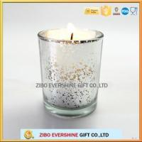 Wholesale glass candle holder for decoration candle jars with plating colors from china suppliers