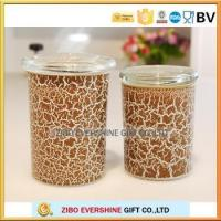 glass stash jar with color crackle paint effects storage jar with glass lid