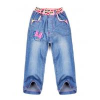 Stretchable waistband washed cotton stretch caprijeans of professional manufacturer forgirl
