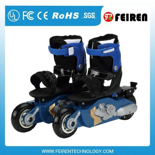 Boy's Skate shoes electric remote control roller scooter ...