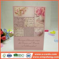 Wholesale Handmade Card Paper Folded Handmade Custom Greeting Cards from china suppliers