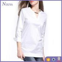 Wholesale Fashion V-Neck women's blouses, Long Sleeve womens tops, Long Style Casual Blouse from china suppliers