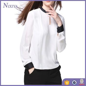 Quality Fashion Tops,White Blouse Womens,Cheap Womens Tops for sale