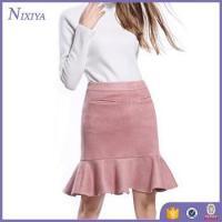 Wholesale Pink Suede Mini Skirt, Ladies Short Skirt Designs Wholesale, Lady Skirt from china suppliers
