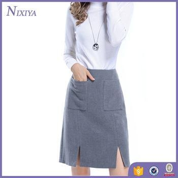 Quality Grey Skirts Women, New Office Skirts and Blouses for Women, Spring Design Skirts and blouses for sale