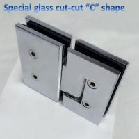 Buy cheap special glass cut-cut hinge 180 degree glass door hinge from wholesalers