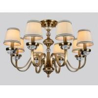 Wholesale Modern crystal chandelier Antique Copper 8arms pendant ceiling chandelier from china suppliers