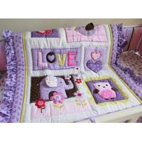 China Purple Elephant Cartoon Baby Patchwork Quilt on sale