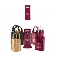 Wholesale Reusable Non Woven Internal Divider Bottle Wine Carrier Bag from china suppliers