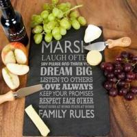 Wholesale Personalised Large Family Rules Slate Board from china suppliers