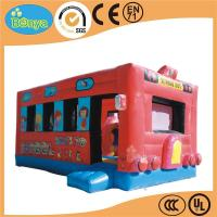 Direct factory price incredible fun inflatable school bus bouncers