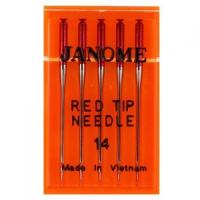 China Red Tip Needle 15x1 (5pk), Janome #990314000 on sale