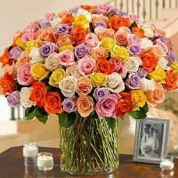 Wholesale 100 Roses in a Vase NO.55 delivery flower to china from china suppliers