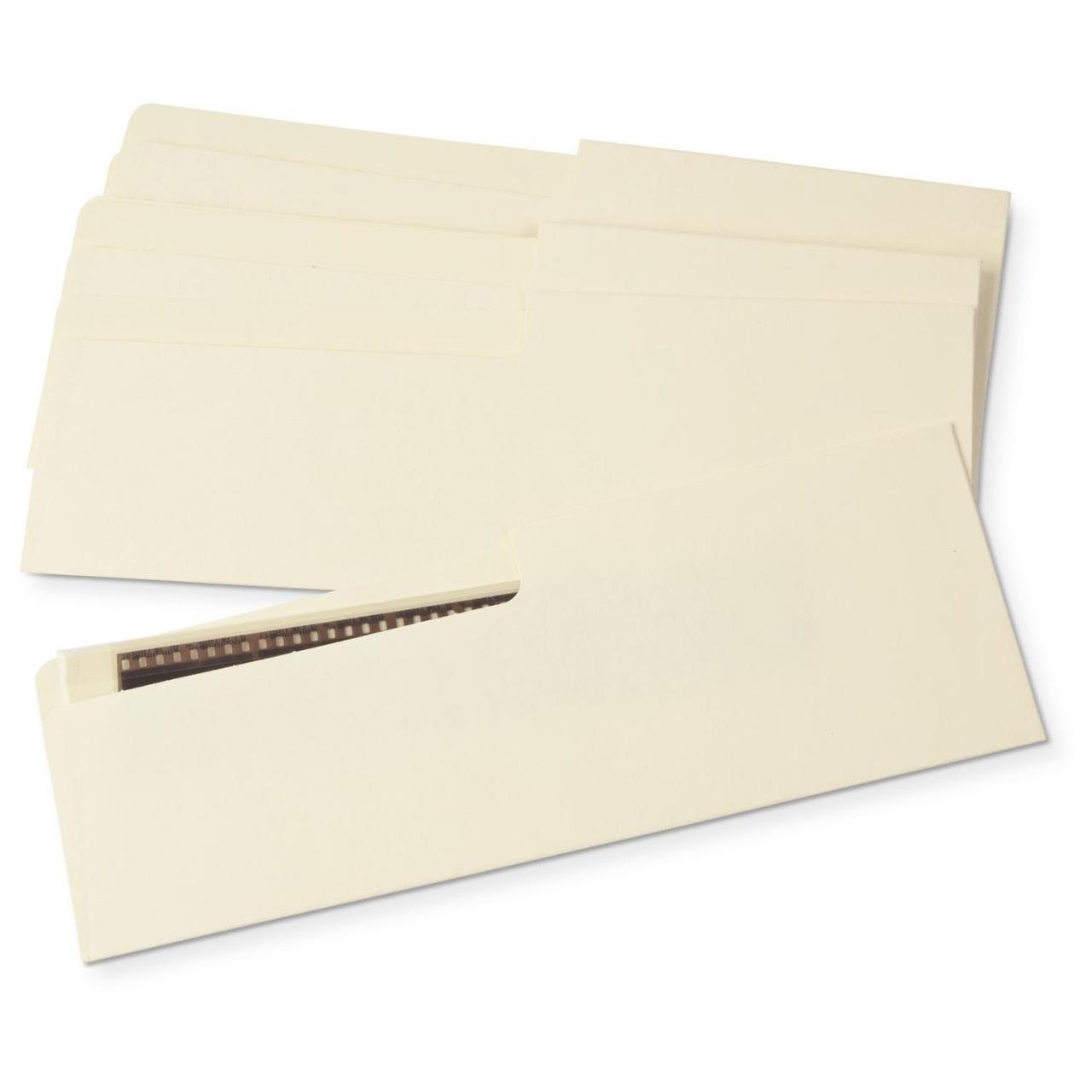 Gaylord Archival 80 lb. Buffered Text Negative Strip Envelopes (50-Pack)