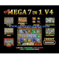 Wholesale Game board Slot machine New Mega 7 in 1 V.4 Yellow color casino game board from china suppliers