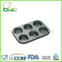 Wholesale 6 cup muffin pan Non-Stick Carbon Steel 6 Cups Muffin Pan from china suppliers