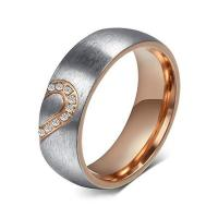 Wholesale Unisex Real Love Heart Stainless Steel Promise Couple Ring for Wedding Jewelry from china suppliers