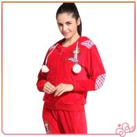 Wholesale 2014 china lovely red wholesale velvet for women branded cheap tracksuits sports from china suppliers