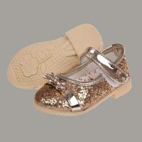 Wholesale girls' shoes Color:Black, gold, silver from china suppliers