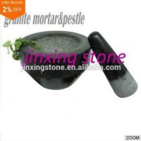 Wholesale Black Natural Stone Granite Mortar&Pestle from china suppliers