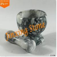 Wholesale Grey Marble Mortar and Pestle, Marble Kitchenware, Stone Cooking Tool Mortar from china suppliers