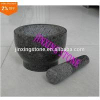 Wholesale Granite Mortar&Pestle/Spice Herb Crusher Grinder Set/Stone Pilon&Mortier from china suppliers