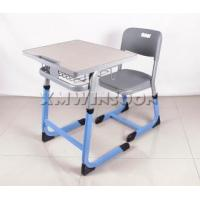 China Furniture Wholesale Adjustable School Desk And Chair With Metal Frame AA9040 on sale
