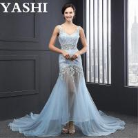 Wholesale V-Neck Appliques Lace up Evening Dress (SL2007) from china suppliers