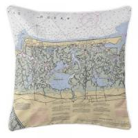 Wholesale NJ: Stone Harbor, NJ Nautical Chart Pillow from china suppliers