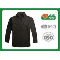 Wholesale Casual Sports Mens Black Fleece Jacket With ISO9001 Certificate from china suppliers