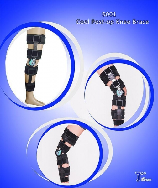 Quality Soft Cool Post OP Surgery Adjustable Knee Brace for sale