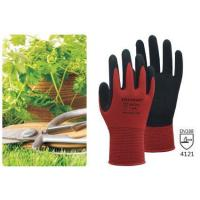 China 13G red nylon liner with sandy nitrile coating on sale