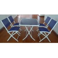 Wholesale New Design 5PC Metal Textilene Patio Set from china suppliers