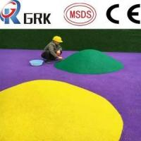 Wholesale EPDM floor Outdoor school playground application EPDM rubber granules flooring from china suppliers