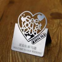 Wholesale silver laser cut metal wedding invitation card , Personalized custom service 100 pcs/lot , by101 from china suppliers