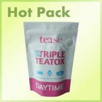 Top Zip Plastic 30 Days Triple Teatox Resealable Foil Stand Up Pouch