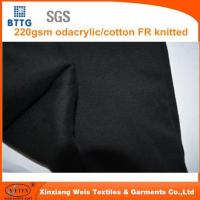 Wholesale 220gsm Modacrylic/cotton Interlock Knitted Fabric from china suppliers