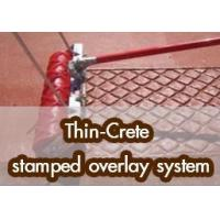 Thin-Crete stamped overlay system