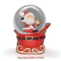 Wholesale Polyresin 45mm Christmas Snow Glass Ball Santa Claus from china suppliers