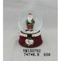 Wholesale Santa Claus Polyresin 65mm Christmas Snowglobe from china suppliers