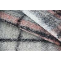 Wholesale Classical Pink And Grey Tartan Fabric For Mens Colored Blazers 515G / M from china suppliers