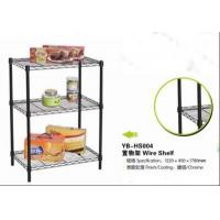Wholesale light duty black color Powder coating 3 tier wire shelf YB-HS004 from china suppliers