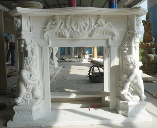Custom Marble Stone Carved Fireplace Mantel Surrounds For Sale Images 16924544