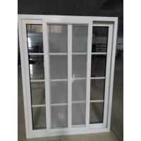 Double glazing aluminum sliding window with grid decoration and screen
